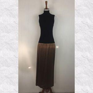 Vera Wang Mock Neck Drop Waist Sleeveless Dress